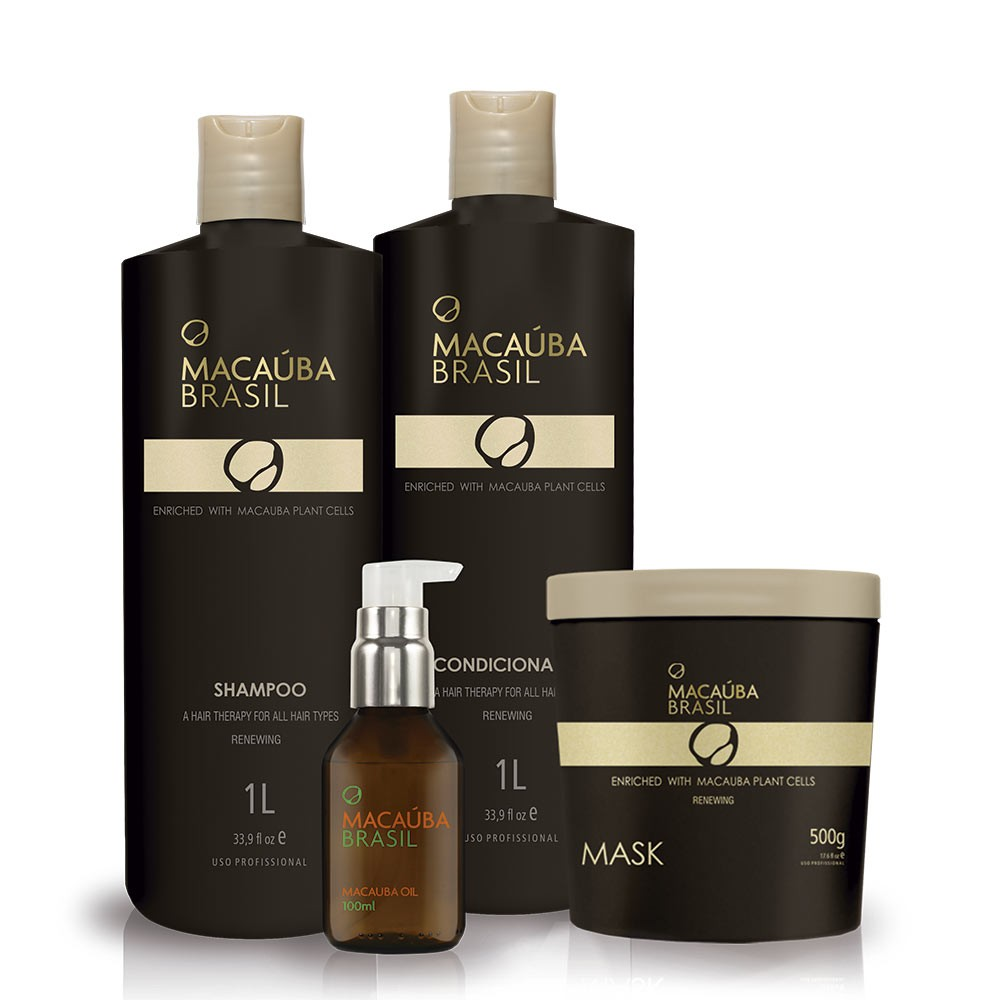Kit Renewing Profissional Shampoo + Condicionador + Mask + MacaubaOil 100 ML